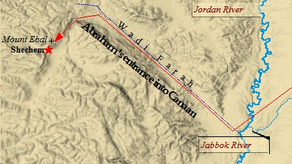 abraham' s entrance into canaan, the history of israel