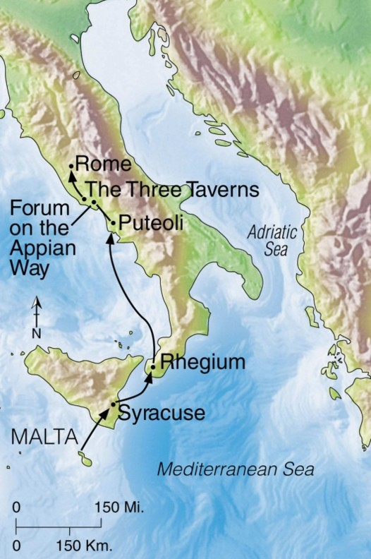 acts 28--paul arrives in rome, bob's boy's christianity blog