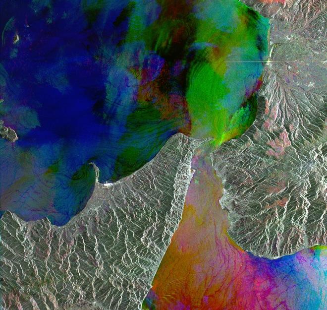 ers2 radar view of strait of messian