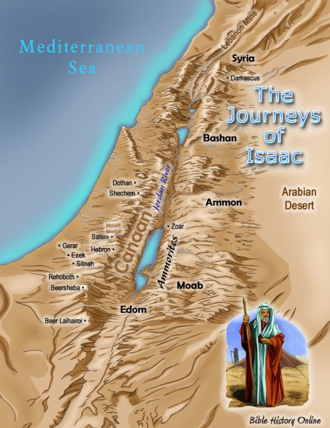 isaac's journeys, bible-history