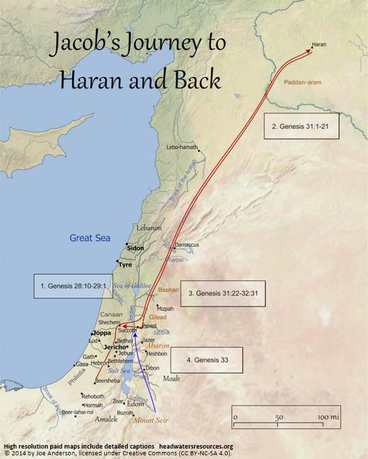 jacob's journey to haran and back, headwater's christian resources
