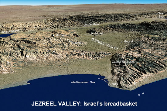 jezreel valley__israel's breadbasket