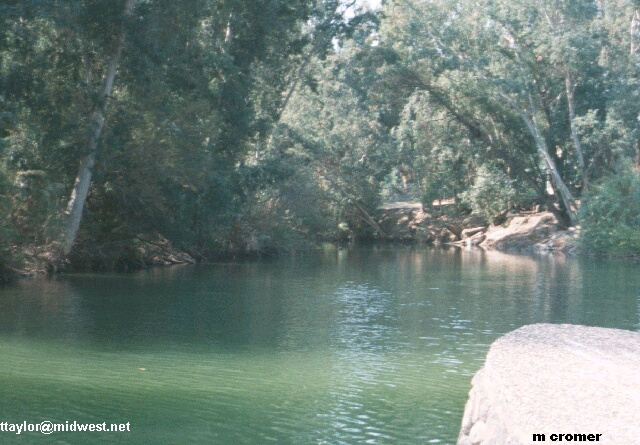 jordan river (near where jesus was baptized), ebibleteacher