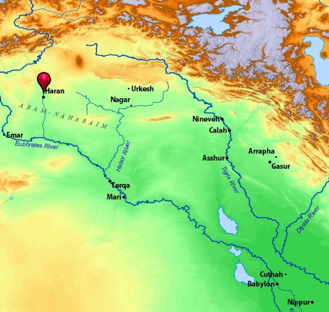 location of haran in mesopotamia, leon mauldin