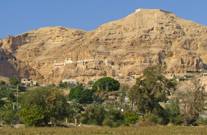 mount of temptation above jericho