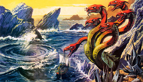 steering a couse through the strait of messian, between scylla and charybdis