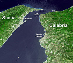 strait of messina, wikipedia