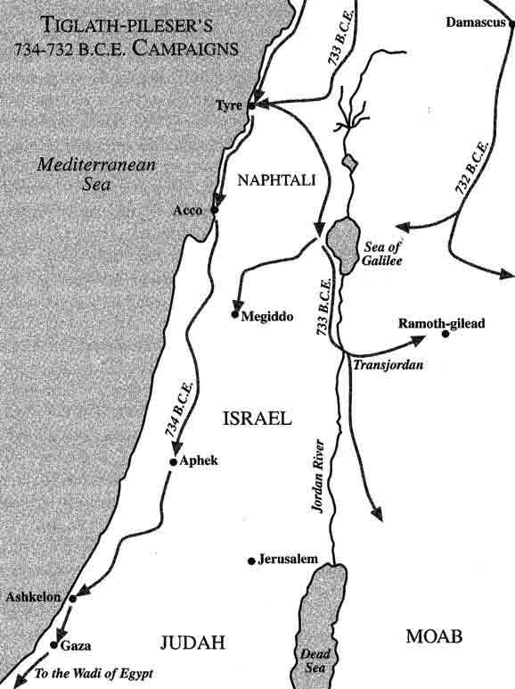 tiglath-pileser's 734-732 b.c. e. campaigns