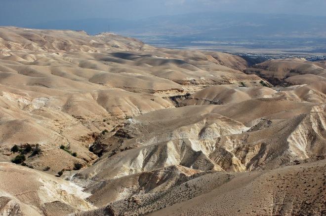 Wadi el Qelt, Blick in Richtung des Jordangrabens (Jericho)