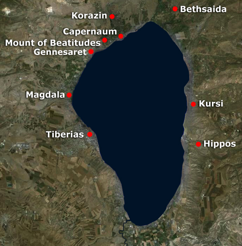 Sea of Galilee towns
