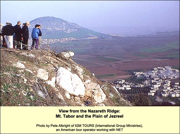 View from the Nazareth Ridge__Mt. Tabor and the Plain of Jezreel, Pete Albright